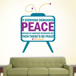 Peace Television Wall Decal
