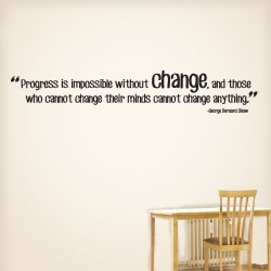 Progress Change Wall Decal