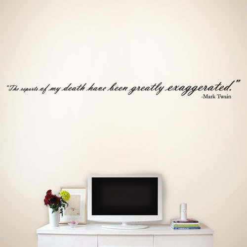 View Product Death Exaggerated Wall Decal