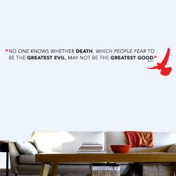 Death Greatest Good Wall Decal