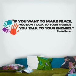 Peace Friends Enemies Wall Decal
