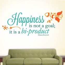 Happiness Biproduct Wall Decal