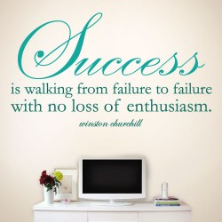 Success Enthusiasm Wall Decal
