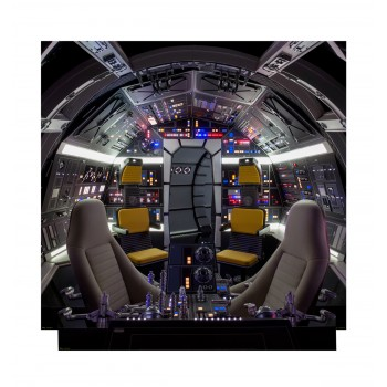 Cockpit of Millenium Falcon Backdrop (Star Wars Han Solo Movie) - $94.95