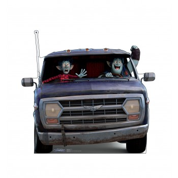 Ian and Barley in Van (Onward Disney/Pixar)