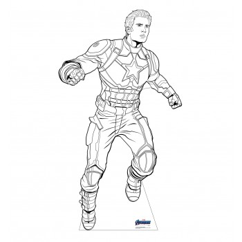 Color Me Captain America (Avengers Endgame) - $39.95