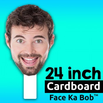 "24"" Custom Cardboard Big Head Cutouts - $19.99"
