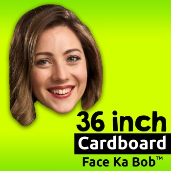 "36"" Custom Cardboard Big Head Cutouts - $24.99"