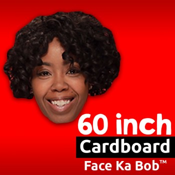 "60"" Custom Cardboard Big Head Cutouts - $44.99"