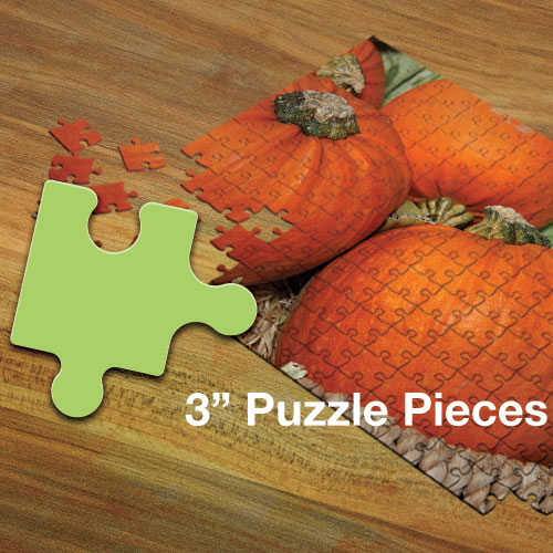 "Custom Jigsaw Puzzle - 3"" Pieces"