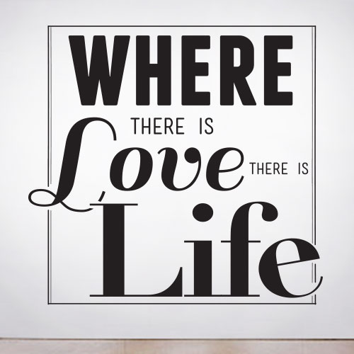 View Product Where there is Love Wall Decal