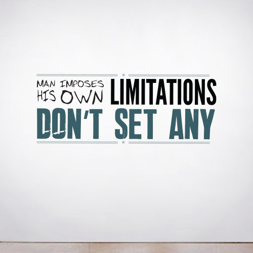 View Product Limitations Wall Decal