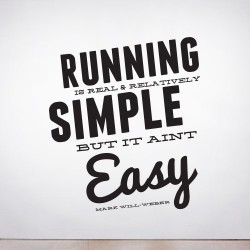 Running is Simple Wall Decal