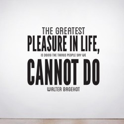 Greatest Pleasure Wall Decal