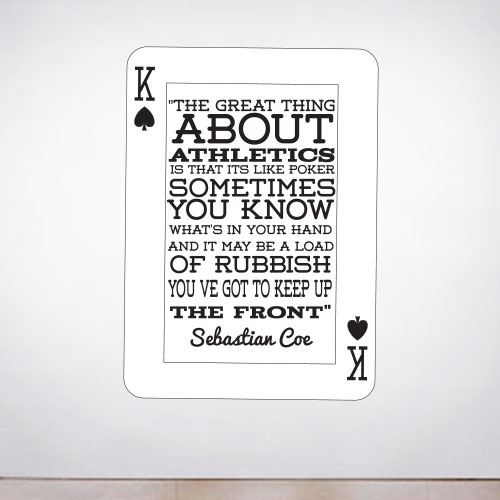 View Product Athletics like Poker Wall Decal