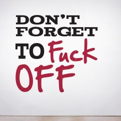 Don't Forget... Wall Decal