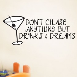 Chase Drinks And Dreams Wall Decal