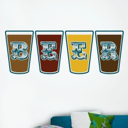 Beer Glasses Wall Decal