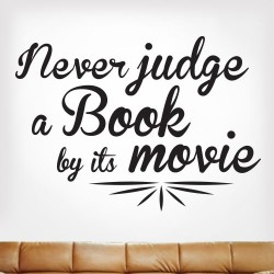 Dont Judge A Book By Its Movie Wall Decal