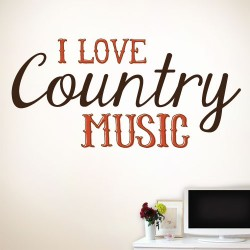 I Love Country Music Wall Decal
