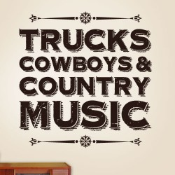 Country Music Wall Decal