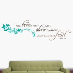 Trees Slow To Grow Wall Decal