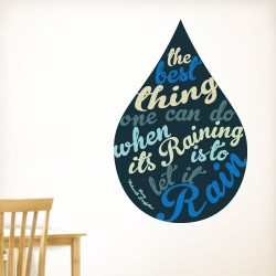 Let It Rain Wall Decal