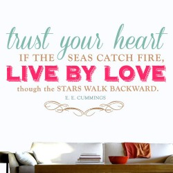 Live By Love Wall Decal