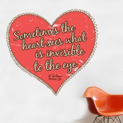 Heart Sees What Is Invisible Wall Decal