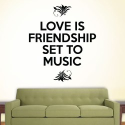 Love Is Friendship Set To Music Wall Decal