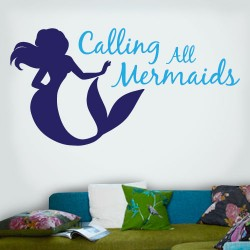 Calling All Mermaids Wall Decal