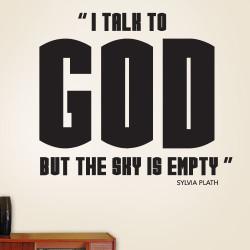 I Talk To God Wall Decal