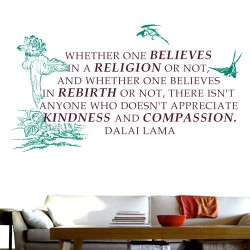 Appreciate Kindness and Compassion Wall Decal