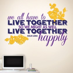 Live Together Happily Wall Decal
