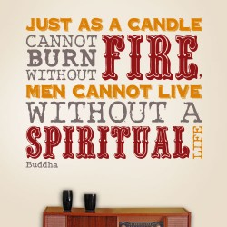 Candle Cannot Burn Without Fire Wall Decal