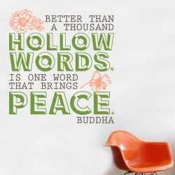 Hollow Words Wall Decal
