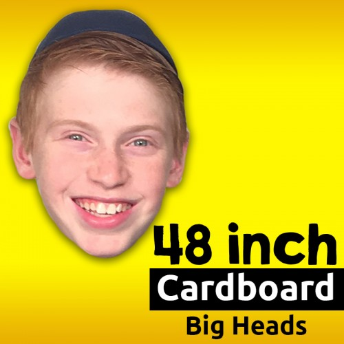 Custom Cardboard Big Head - 48 Inch