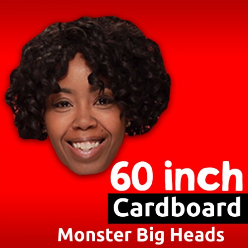 Custom Cardboard Big Head - 60 Inch Monster