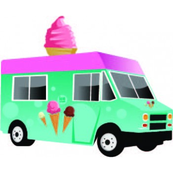 Ice Cream Food Truck Cardboard Cutout - $39.95