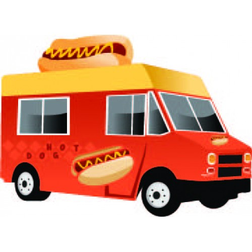 Hot Dog Food Truck Cardboard Cutout