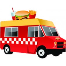 Burger Food Truck Cardboard Cutout