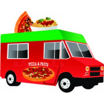 Pizza Food Truck Cardboard Cutout - $39.99