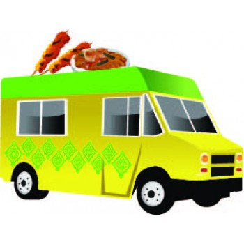 Greek Food Truck Cardboard Cutout - $39.95