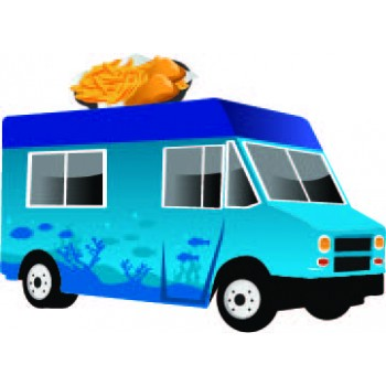 Sea Food Food Truck Cardboard Cutout - $39.95
