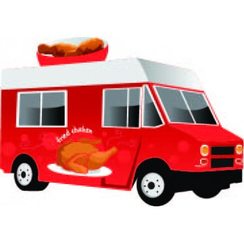 Fried Food Truck Cardboard Cutout - $39.95