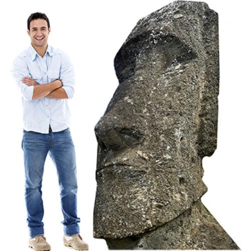 Moai Statues on Easter Island Cardboard Cutout