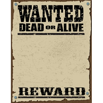 Wanted Dead Or Alive Poster Cardboard Cutout - $49.99