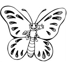 Butterfly 3 Cardboard Coloring Cutout