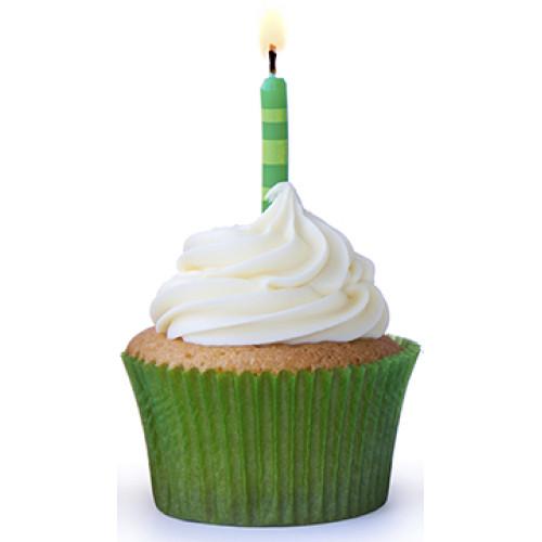 Green Cupcake Cardboard Cutout