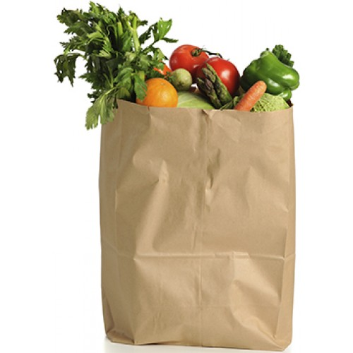 Fruits and Vegetables in Bag Cardboard Cutout